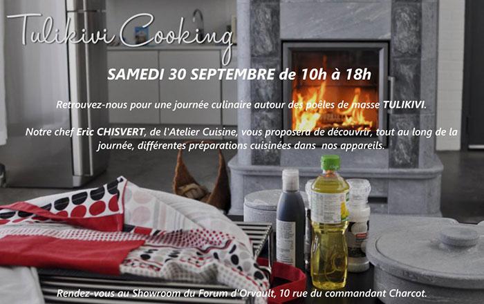 Samedi 30 septembre: JOURNEE CULINAIRE TULIKIVI
