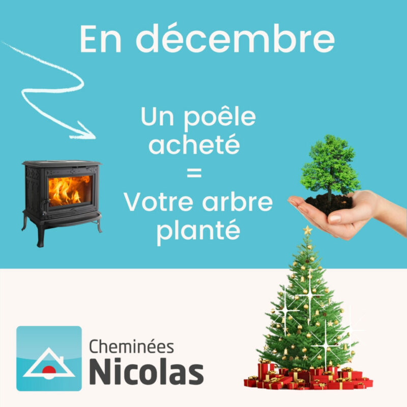 En décembre, un poêle acheté = votre arbre planté !